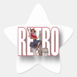 La marca RETRA Calcomanía Forma De Estrellae