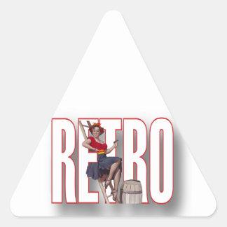 La marca RETRA Pegatina Trianguloada