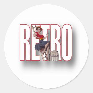La marca RETRA Pegatinas Redondas