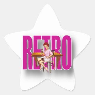 La marca RETRA Calcomanías Forma De Estrella Personalizadas