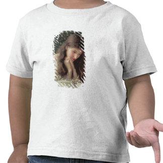 La marcha lenta rasga w c en el papel camisetas