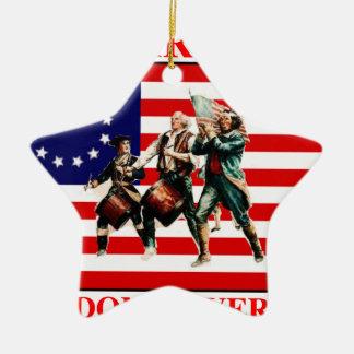 la marcha para la libertad nunca termina adorno navideño de cerámica en forma de estrella