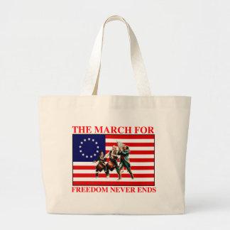 la marcha para la libertad nunca termina bolsa tela grande