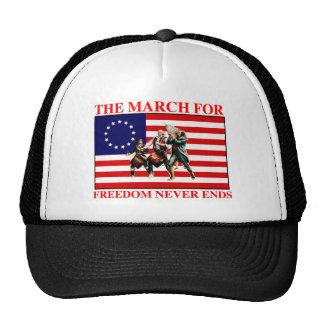 la marcha para la libertad nunca termina gorros