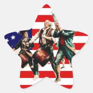 la marcha para la libertad nunca termina calcomanía forma de estrellae