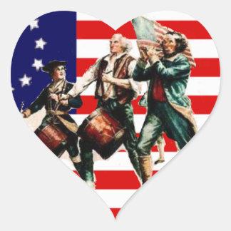 la marcha para la libertad nunca termina pegatina en forma de corazón
