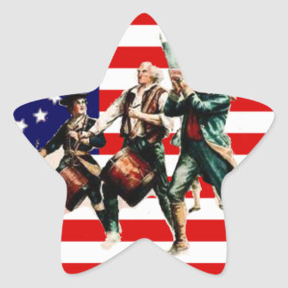 la marcha para la libertad nunca termina pegatina en forma de estrella