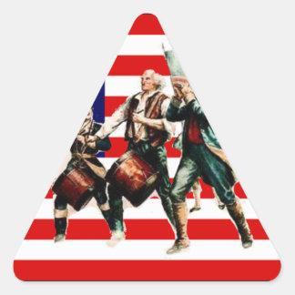 la marcha para la libertad nunca termina pegatina triangular