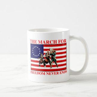 la marcha para la libertad nunca termina taza clásica