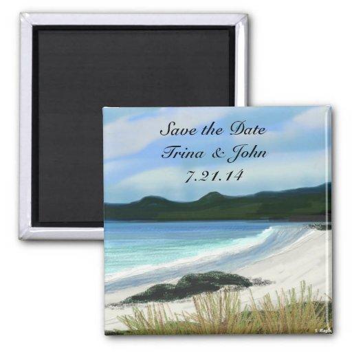 La marea viene en reserva los imanes de la fecha iman