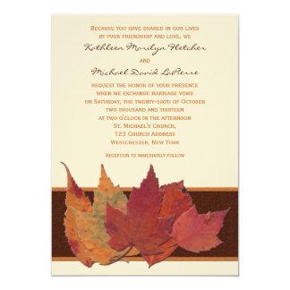 La marfil anaranjada de Brown secada sale de la Invitación 12,7 X 17,8 Cm