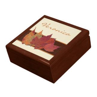 La marfil anaranjada de Brown secada sale del joye Caja De Joyas
