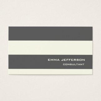 La marfil gris profesional raya estilo de moda tarjetas de visita