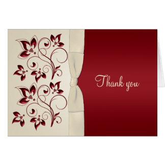 La marfil y el clarete le agradecen cardar tarjeta de felicitación