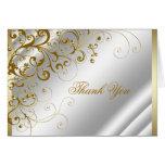La marfil y el oro elegantes le agradecen tarjetón