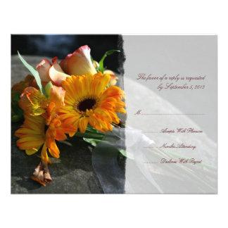 La margarita amarilla florece casando RSVP Comunicado Personal