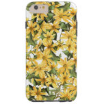 La margarita botánica florece la caja floral del funda de iPhone 6 plus tough