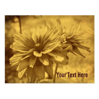 La margarita del vintage florece la postal adaptab