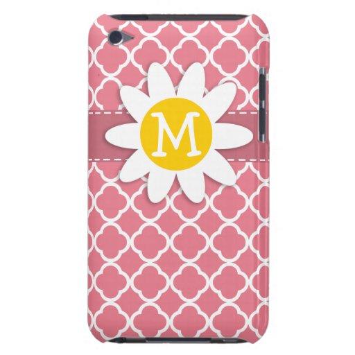 La margarita encendido se ruboriza Quatrefoil rosa Case-Mate iPod Touch Protector