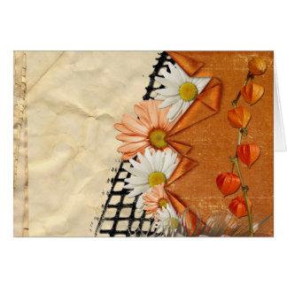 La margarita floral florece los jardines del desti felicitacion