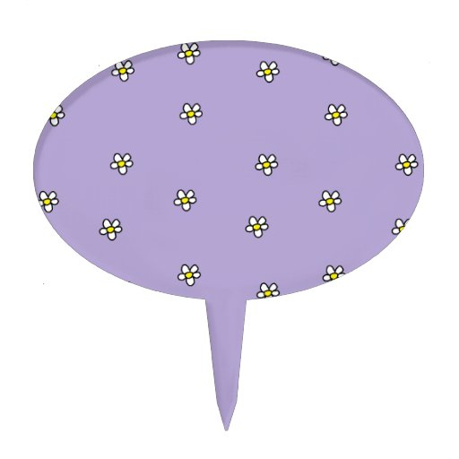 La margarita florece el modelo púrpura decoración para tarta