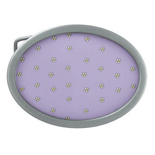 La margarita florece el modelo púrpura hebilla cinturon