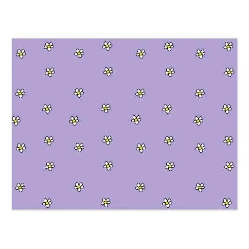 La margarita florece el modelo púrpura tarjetas postales