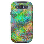 La margarita multicolora florece la caja de la gal galaxy SIII carcasa