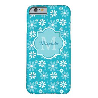 La margarita preciosa de la turquesa florece el funda barely there iPhone 6