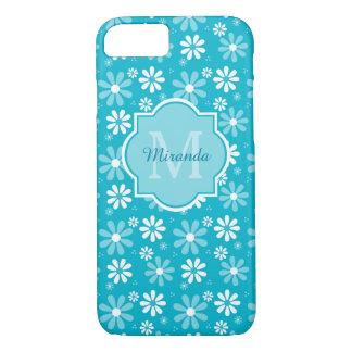 La margarita preciosa de la turquesa florece el funda iPhone 7