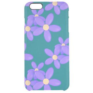 La margarita púrpura florece el iPhone 6/6s más el Funda Clearly™ Deflector Para iPhone 6 Plus De Unc