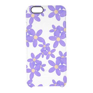 La margarita púrpura florece la caja clara del funda clearly™ deflector para iPhone 6 de uncommon