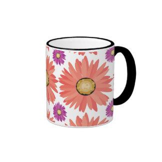 La margarita púrpura rosada de Gerber florece el e Tazas De Café