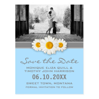 La margarita y el boda de la cinta ahorran la tarjetas postales