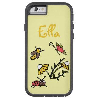 La margarita y los insectos personalizaron la caja funda de iPhone 6 tough xtreme
