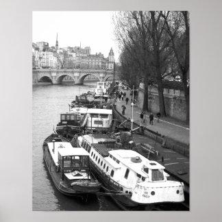 La margen izquierda, París Poster