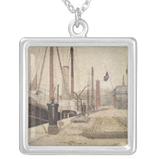 La Maria at Honfleur, 1886 Silver Plated Necklace