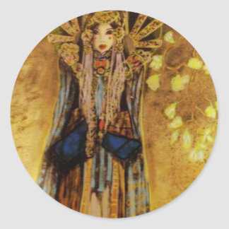 la mariée chinoise classic round sticker