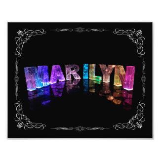 La Marilyn conocida en 3D se enciende (la fotograf Cojinete