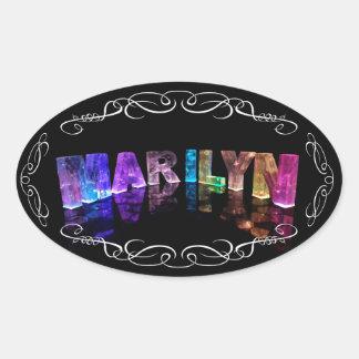La Marilyn conocida en 3D se enciende (la Pegatina Ovalada
