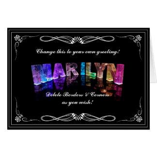 La Marilyn conocida en 3D se enciende (la Tarjeta De Felicitación
