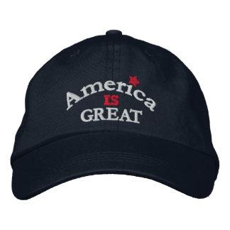 La marina de guerra América es gran gorra Gorro Bordado