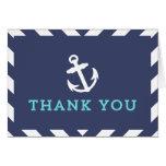 La marina de guerra Chevron náutico le agradece Tarjeta De Felicitación