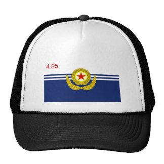La marina de guerra de la gente coreana, bandera d gorras