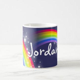 La marina de guerra del arco iris de los niños tazas de café
