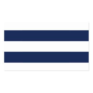 La marina de guerra elegante raya tarjetas del tarjetas de visita