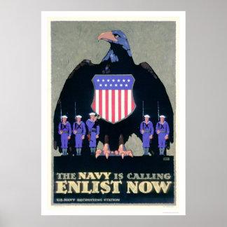 La marina de guerra está llamando - ahora aliste ( impresiones