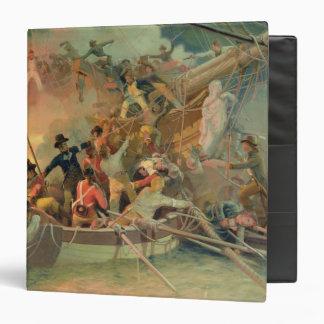 """La marina de guerra inglesa que conquista una nave carpeta 1 1/2"""""""