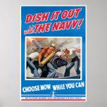 La marina de guerra, lo sirve hacia fuera poster