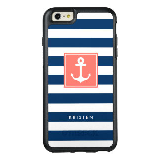 La marina de guerra moderna del ancla náutica raya funda otterbox para iPhone 6/6s plus